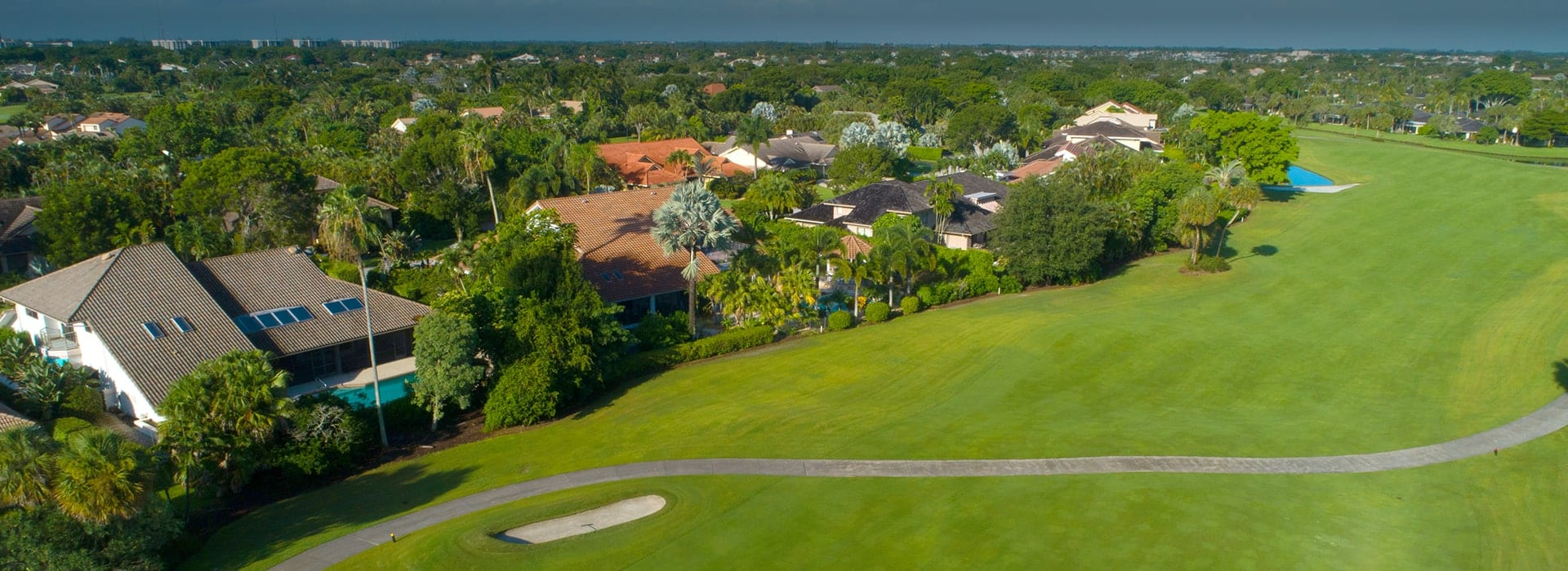Mahogany Bend of Boca West custom-built homes with golf views