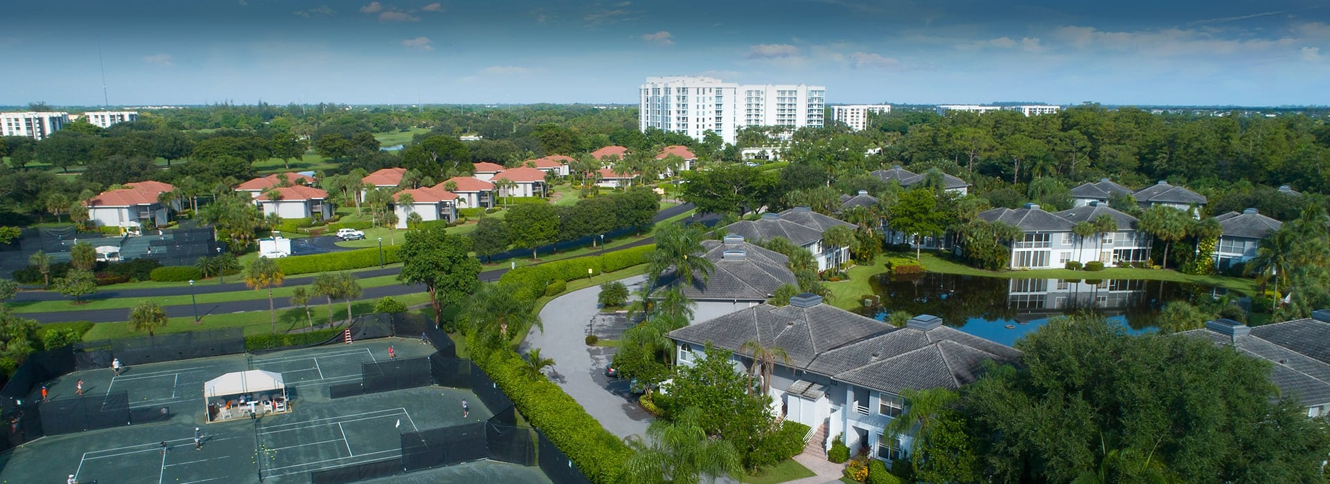 The Cove townhomes adjacent to the tennis courts and clubhouse