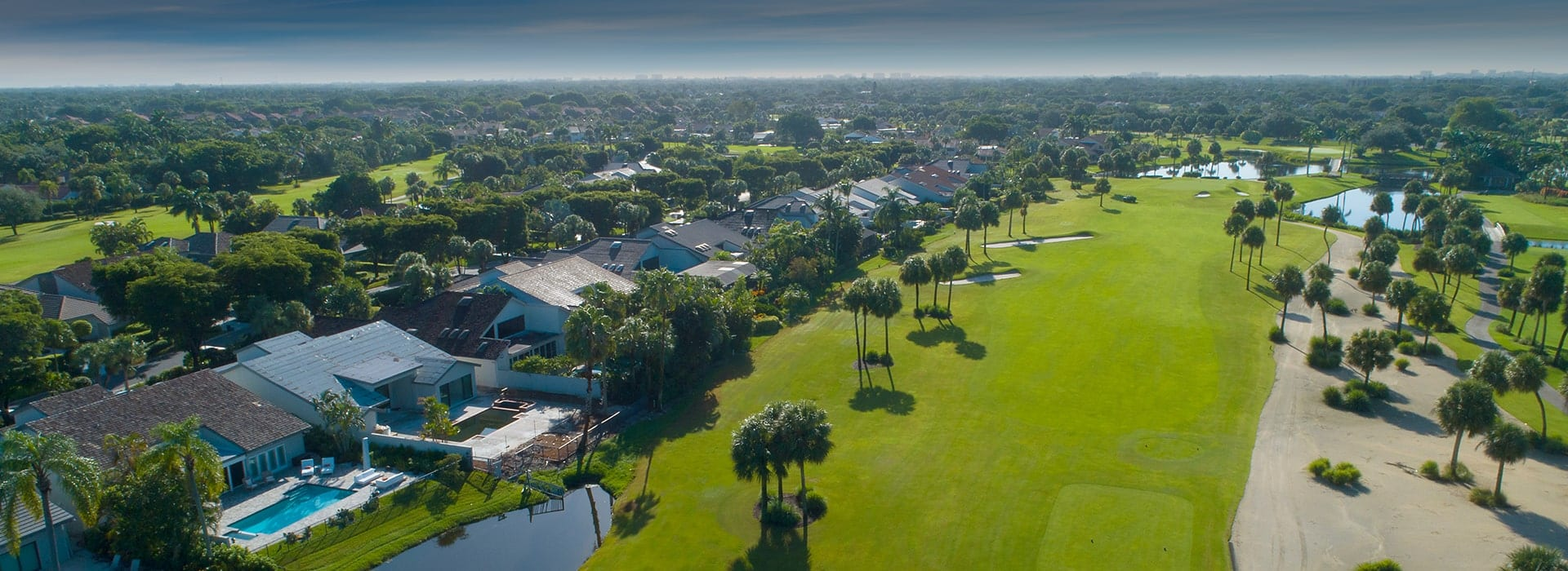 Boca West Wedgewood Neighborhood alongside golf fairway