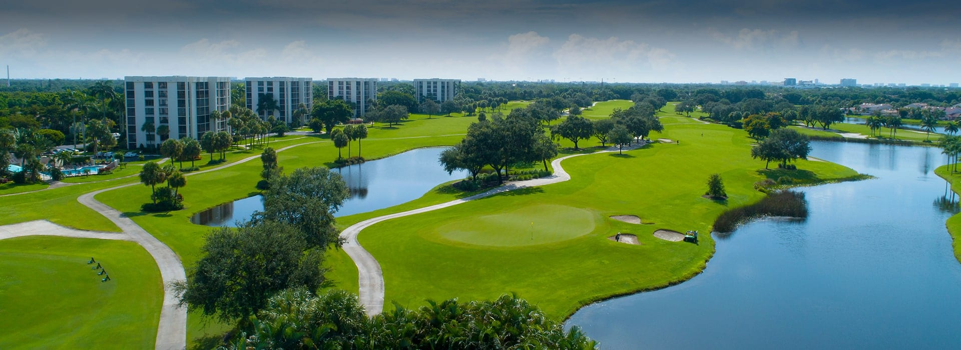 Boca West Willowwood Mid Rise buildings on the golf course