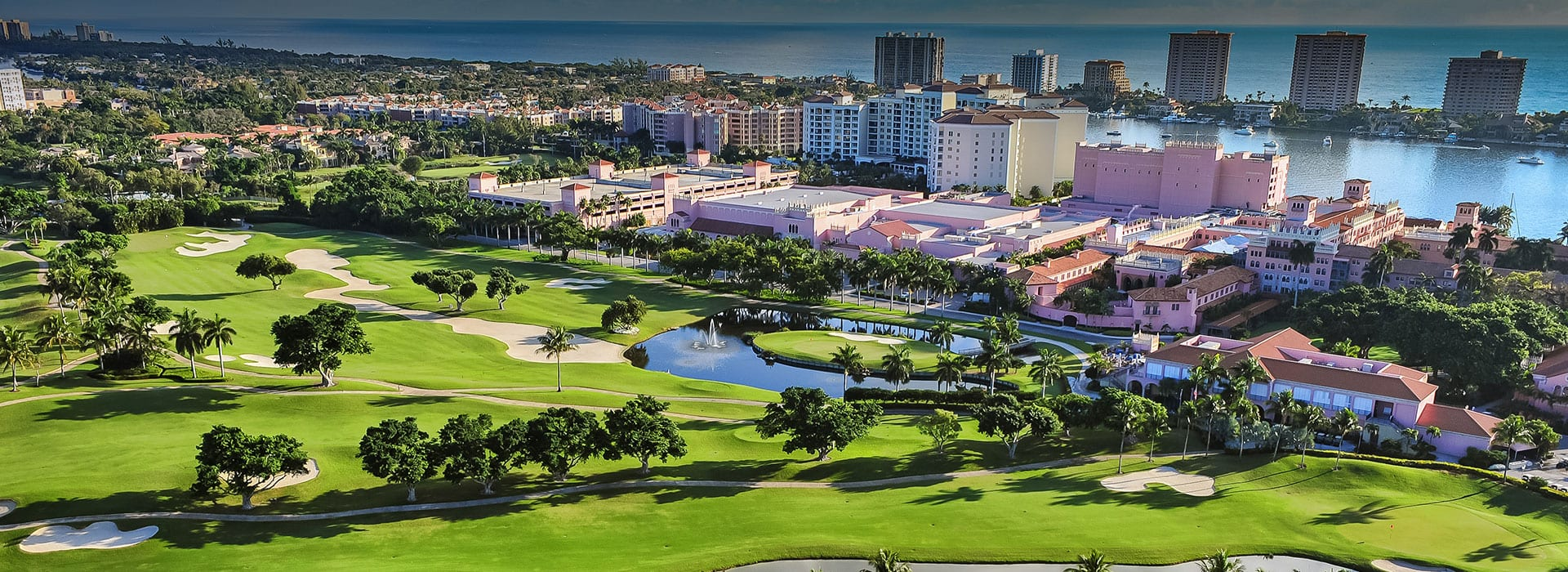 Aerial view of Boca West Country Club