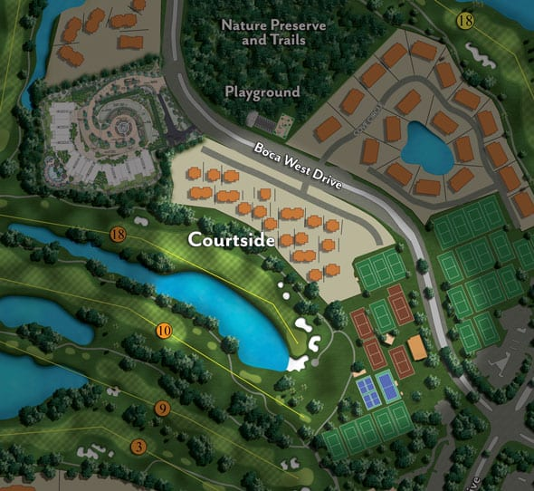 Site Map of Courtside neighborhood at Boca West