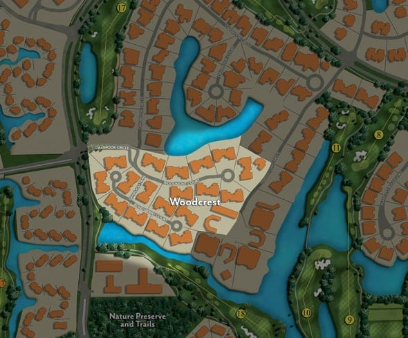 Site Map of Woodcrest