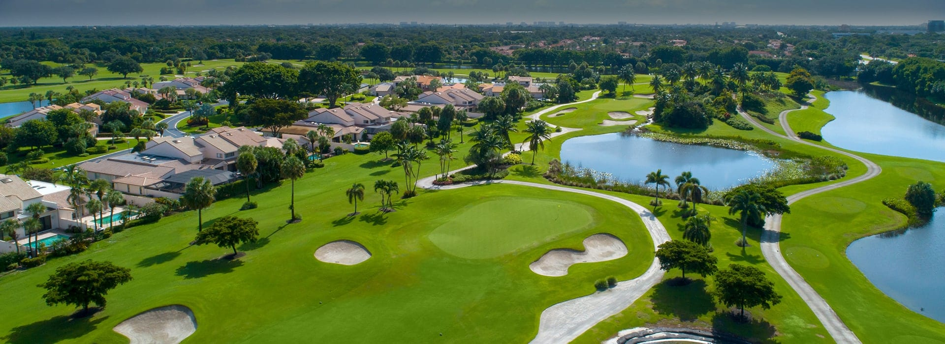 Homes along a golf course at Boca West