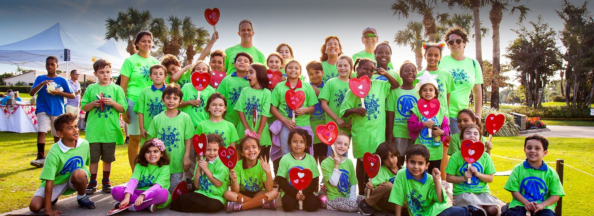 Group photo of children in the Boca Raton community that the Boca West Foundation helps