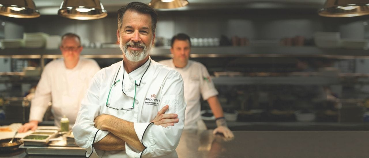Three Chefs in the kitchen of Prime Cut at Boca West