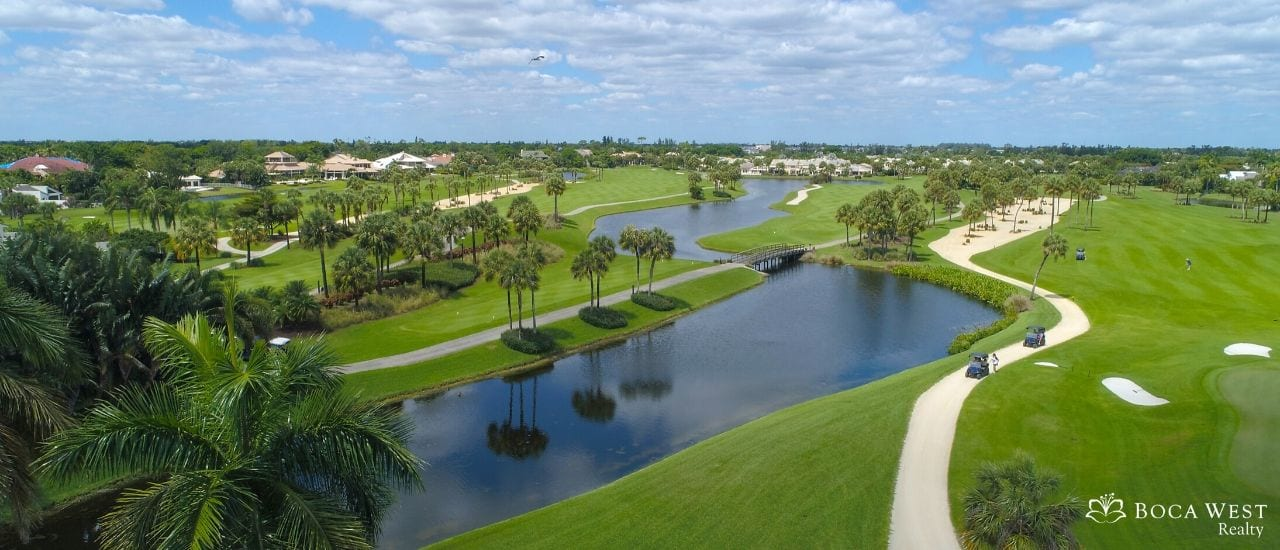 Aerial view of Boca West Country Club Golf