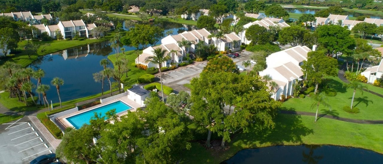 boca west aerial view of the community