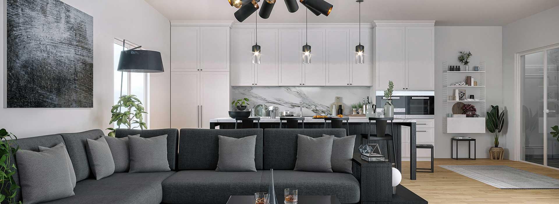 sfl custom homes great room